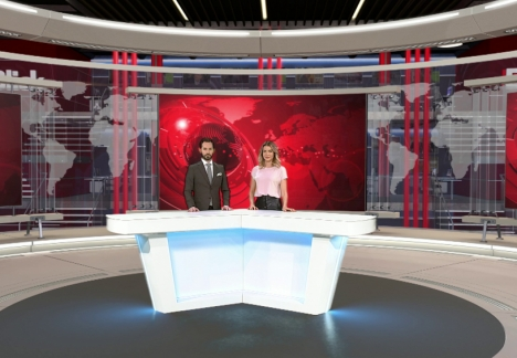 Virtuelles Studio des Digitalsenders Blick TV/ Foto: Ringier